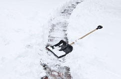Black shovel Royalty Free Stock Photo