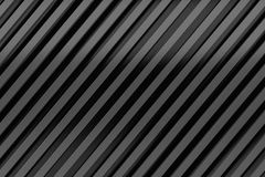 Black siding oblique line layout metal material background 3d re Royalty Free Stock Photo