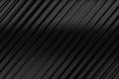 Black siding oblique line layout metal material background 3d re Stock Images