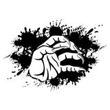 Black sign with hand with claws. Black sign with hand with claws on a white background Stock Photography