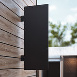 Black signboard on the wall. 3d rendering Stock Image
