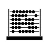 Black silhouette abacus with base and spheres. Vector illustration Stock Photos