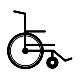 Black silhouette abstract wheelchair flat icon Stock Photos