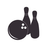 Black silhouette bowling game icons Stock Photo