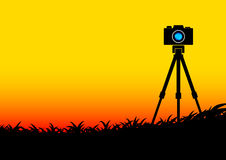 Black silhouette of camera Stock Image