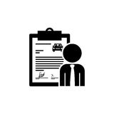 Black silhouette car contract and salesman Stock Photo