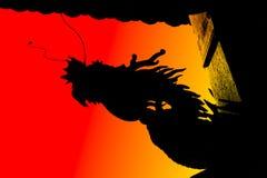 Dragon dark silhouette royalty free stock photos