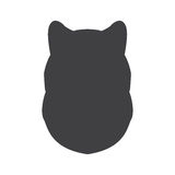 Black silhouette of dog head on a white background. Vector illustration Stock Photo