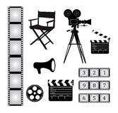 Film objects Royalty Free Stock Images