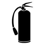 Black silhouette fire extinguisher icon Royalty Free Stock Image