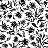 Black silhouette of flowers. Royalty Free Stock Photos