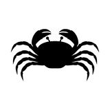 Black silhouette graphic with crab Royalty Free Stock Image