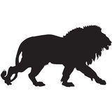 Black silhouette of a lion Royalty Free Stock Photos