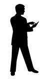 Black silhouette man on white. Black silhouette man Stock Images