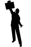 Black silhouette man on white. Black silhouette man stock photography