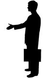 Black silhouette man on white Stock Images