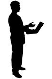 Black silhouette man on white. Black silhouette man Royalty Free Stock Image