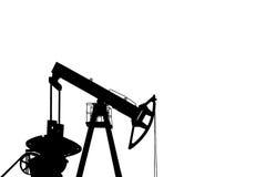 Black silhouette of oil pump Stock Photos
