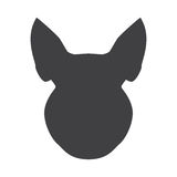 Black silhouette of pig head on a white background. Vector illustration Stock Image