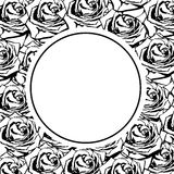 Black silhouette rose Royalty Free Stock Photography