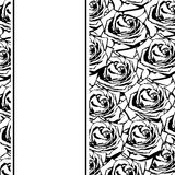 Black silhouette rose Royalty Free Stock Images