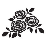Black silhouette of rose Stock Photo