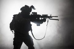 Black silhouette of soldiers Royalty Free Stock Photos