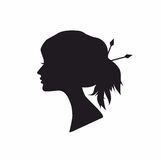 Female Portrait Silhouette. Illustration of a silhouette portrait of a beautiful woman Royalty Free Stock Images