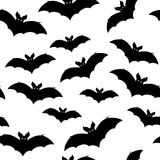 Black silhouettes of bats, vector Royalty Free Stock Image