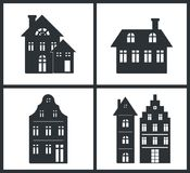 Black Silhouettes of Buildings Vector Illustration vector illustration