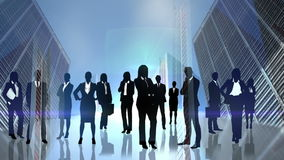 Black silhouettes of business people royalty free illustration