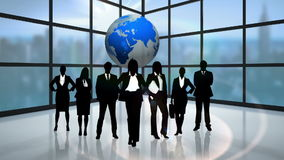 Black silhouettes of business people vector illustration