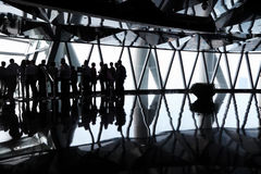 Black silhouettes of group of people royalty free stock images