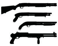 Black silhouettes of shotguns Royalty Free Stock Image