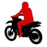 Black silhouettes sport bike on white background. Stock Photos