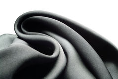 Black silk. Waves royalty free stock images