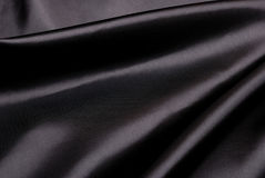 Black silk background. Royalty Free Stock Image