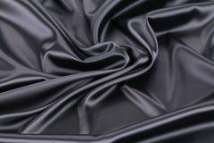 Black silk background. Stock Photo