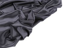 Black silk beckground. Royalty Free Stock Photography