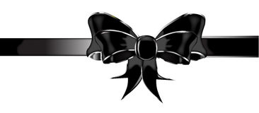 Black Silk Bow Royalty Free Stock Image
