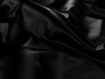 Black Silk Cloth Abstract Background Royalty Free Stock Photography