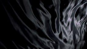 Black silk cloth rippling Royalty Free Stock Images