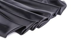 Black silk drapery. Stock Photo