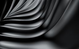 Black silk drapery and fabric background. 3d render stock photo