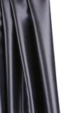 Black silk drapery. Royalty Free Stock Images
