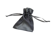 Black silk bag Royalty Free Stock Photography