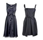 Black silk dress Royalty Free Stock Image