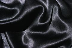 Black Silk Fabric Royalty Free Stock Image