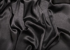 Black silk fabric background Stock Image
