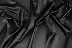 Black silk fabric Royalty Free Stock Photos